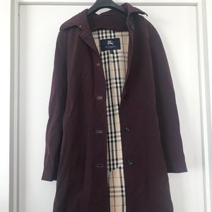 Burberry Women's Lined Trench Coat with Belt Size8